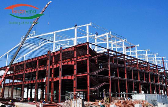 Thi công kết cấu thép công trình xây dựng Teconvina